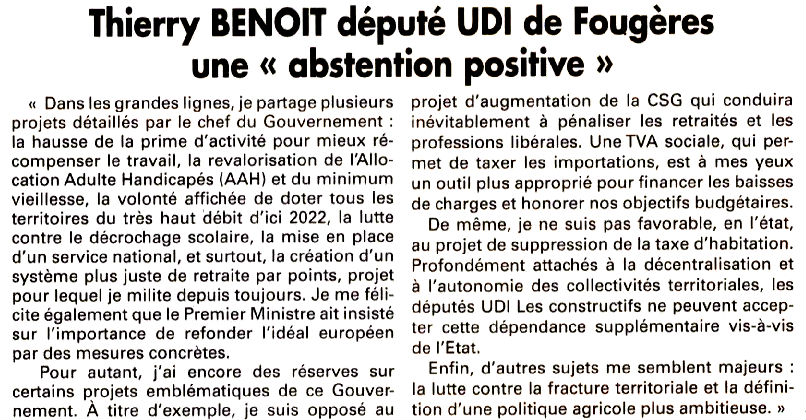 7 Jours 78072017 - Echos du parlement - abtsention positive