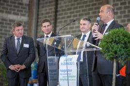 Inauguration d'une extension de l'usine CHIMIREC